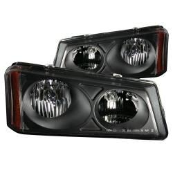 Anzo USA - Anzo USA 111009 Crystal Headlight Set-Black - Image 1