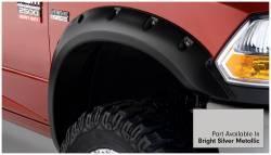 Bushwacker - Bushwacker 50919-55 Pocket Style Front/Rear Fender Flares-Bright Silver Metallic - Image 2
