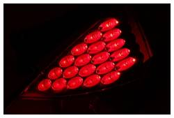 Anzo USA - Anzo USA 321083 Chrome LED Tail Light Set-Red Lens - Image 2