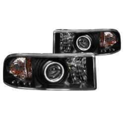 Anzo USA - Anzo USA 111065 Projector Headlight Set w/ CCFL Halo-Black - Image 1