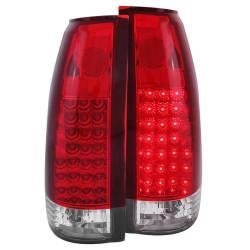 Anzo USA - Anzo USA 311004 Chrome LED Tail Light Set-Red/Clear Lens - Image 1