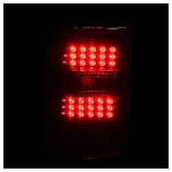 Anzo USA - Anzo USA 311107 Black LED Tail Light Set-Clear Lens - Image 2
