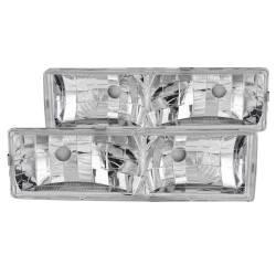Anzo USA - Anzo USA 111136 Crystal Headlight Set-Chrome - Image 1