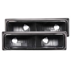 Anzo USA - Anzo USA 511053 Euro Clear Lens Front Turn Signal/Parking Lights-Black - Image 1