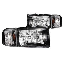 Anzo USA - Anzo USA 111067 Crystal Headlight Set w/ Corners-Black - Image 1