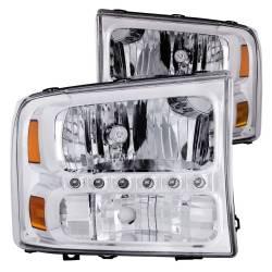 Anzo USA - Anzo USA 111088 Crystal 1-Piece Headlight Set-Chrome - Image 1