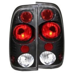 Anzo USA - Anzo USA 211064 Carbon Fiber Euro Tail Light Set-Clear Lens - Image 1