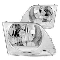 Anzo USA - Anzo USA 111030 Crystal Headlight Set-Chrome - Image 1
