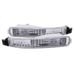 Anzo USA - Anzo USA 511007 Clear Lens Front Bumper/Turn Signal Light Set - Image 1