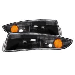 Anzo USA - Anzo USA 511045 Clear Lens Front Bumper/Turn Signal Light Set-Black - Image 1