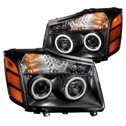 Anzo USA - Anzo USA 111095 Projector Headlight Set w/ CCFL Halo-Black - Image 1