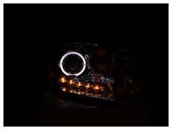 Anzo USA - Anzo USA 111029 Projector Headlight Set w/ LED Halo-Chrome - Image 2