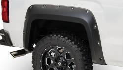 Bushwacker - Bushwacker 40122-02 Pocket Style Rear Fender Flares-Black - Image 1