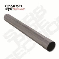 "Diamond Eye - Diamond Eye 420048 Straight 4"" I.d. X 4"" O.d. X 48"" Long 409 Stainless Steel - Image 1"