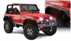 Bushwacker - Bushwacker 10920-07 Flat Style Front/Rear Fender Flares-Black - Image 1