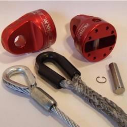 Factor 55 - Factor 55 00210-06 Prolink XXL Loaded Winch Shackle Mount Gunmetal, Titanium Pin - Image 1