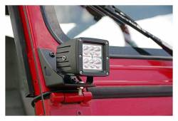 Rough Country Suspension Systems - Rough Country 70510 Lower Windshield Pillar Light Mounts - Image 2