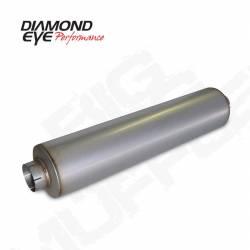 "Diamond Eye - Diamond Eye 800464 Muffler 4"" Single In Single Out Aluminized - Image 1"