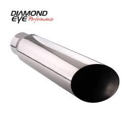 "Diamond Eye - Diamond Eye 5618BAC Tip Bolt-on Angle Cut 5"" Id X 6"" Od X 18"" Long 304 Stainless - Image 1"