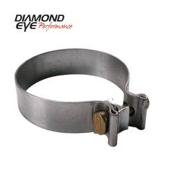 "Diamond Eye - Diamond Eye BC400S409 Clamp Torca Band Clamp 4"" 409 Stainless Steel - Image 1"