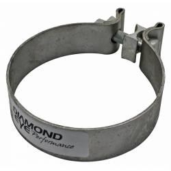 "Diamond Eye - Diamond Eye BC400S430 Clamp Torca Band Clamp 4"" 430 Bright Stainless Steel - Image 1"