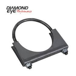 "Diamond Eye - Diamond Eye 444000 Clamp U-bolt Stlye 4"" Standard Steel - Image 1"