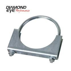 """Diamond Eye - Diamond Eye 454000 Clamp U-bolt Stlye 4"""" Zinc Coated Steel - Image 1"""