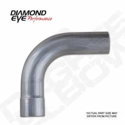 """Diamond Eye - Diamond Eye 529011 Elbow 3.5"""" 90 Degrees 409 Stainless Steel - Image 1"""