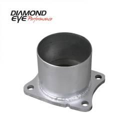 "Diamond Eye - Diamond Eye 321045 4 Bolt Adapter 4"" Aluminized 2001-2007.5 ChevyGMC 6.6L - Image 1"
