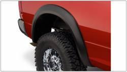 Bushwacker - Bushwacker 50036-02 Extend-a-Fender Rear Fender Flares-Black - Image 1